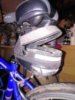 Jo Amess Rat eaten bike bag